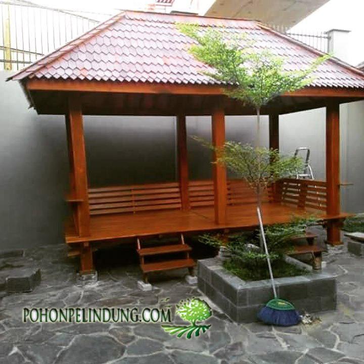 jasa pembuatan saung gazebo kayu jati